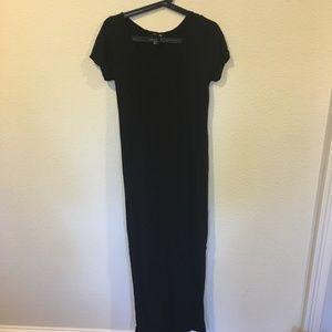 H&M black short sleeve black maxi dress
